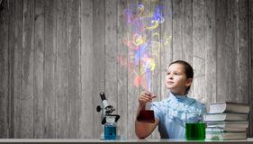 Experiments in laboratory Royalty Free Stock Photo