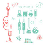 Experiências químicas Fotografia de Stock Royalty Free