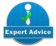 Expert Advice Circle Stock Photography