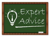 Expert Advice Classroom Board Stock Images