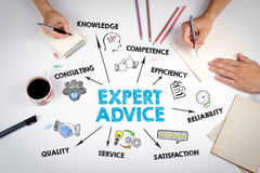 Expert Advice Concept. The meeting at the white office table Stock Image