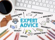 Expert Advice Concept. White office desk Stock Image