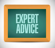 Expert advice message sign illustration design Stock Photos