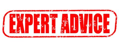 Expert advice red stamp Stock Photography