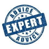 Expert advice rubber vector stamp royalty free illustration