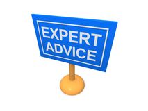 Expert advice sign Stock Image