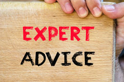 Expert advice text concept Royalty Free Stock Image