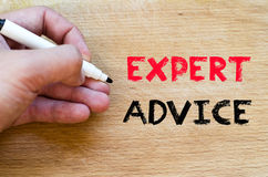 Expert advice text concept Royalty Free Stock Photography