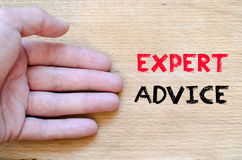 Expert advice text concept Stock Photography
