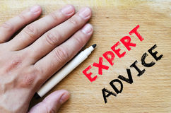 Expert advice text concept Stock Photo