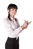 The expert call the centre Royalty Free Stock Image