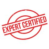 Expert Certified rubber stamp Stock Image