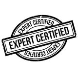 Expert Certified rubber stamp Stock Photography