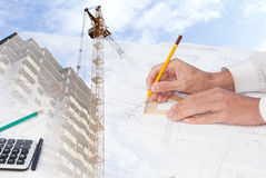 Expert check of the engineering project. Expert check of the design building documentation Stock Images