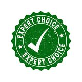 Expert Choice Grunge Stamp with Tick royalty free illustration