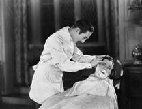 An expert at close shaves royalty free stock image