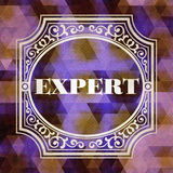 Expert Concept. Purple Vintage design. Stock Photos