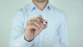 Expert en logiciel Busca Trabajo, écriture de Job Wanted dans l'Espagnol sur le verre banque de vidéos