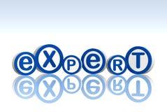 Expert en matière de cercles bleus Image libre de droits