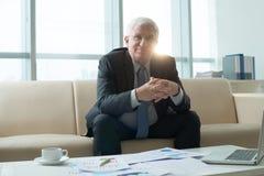 Expert financier supérieur photos stock