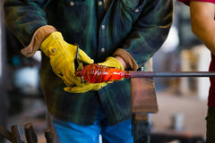 Expert Glassblower Royalty Free Stock Images