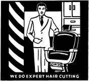 Expert Hair Cutting Stock Photography