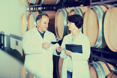 Expert and maker estimate wine Stock Image