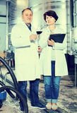 Expert and maker estimate wine Stock Photo