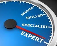 Expert. Meter level expert 3d rendering stock photo