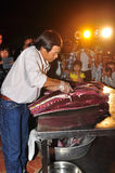 An expert is performing tuna fillet techniques at Vietnam seafood festival in Tuy Hoa city Royalty Free Stock Photography