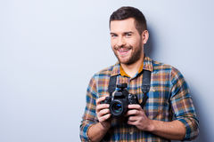 Expert in photography. Stock Photo