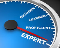 Expert. Professional Expert Learner Experience 3d Illustration  meter rendering Stock Photos