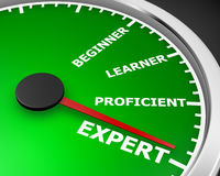 Expert. Professional Expert Learner Experience 3d Illustration  meter rendering Stock Image
