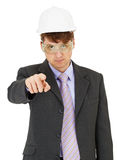 Expert in safety precautions strictly points Royalty Free Stock Image