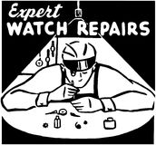 Expert Watch Repairs Stock Photography