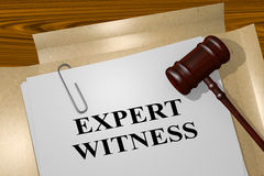 Expert Witness - legal concept Stock Photo