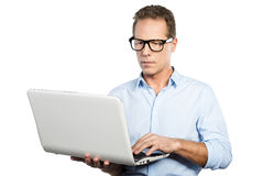 IT expert at work. stock photography