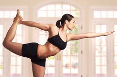 Expert yoga pose stock images