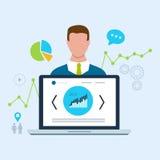 Experte der Suchmaschinen-Optimierung und des Geschäfts Lizenzfreies Stockfoto