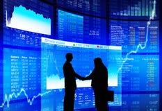 Experten stimmen der erfolgreichen Börse-Produkteinführung zu lizenzfreie stockbilder