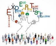 Expertise apprenant le concept d'expert en matière de compétence de la connaissance image stock