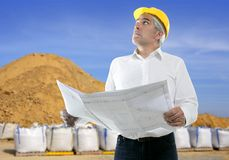 Expertise architect senior engineer plan quarry Royalty Free Stock Photography