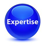 Expertise glassy blue round button. Expertise isolated on glassy blue round button abstract illustration Stock Image