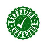 Expertise Grunge Stamp with Tick royalty free illustration