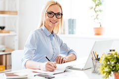 Expertise in her business. Stock Photography