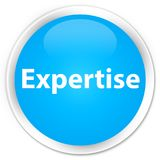 Expertise premium cyan blue round button Stock Image