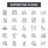 Expertise line icons, signs, vector set, outline illustration concept. Expertise line icons, signs, vector set, outline concept illustration vector illustration