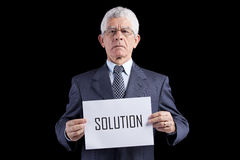 Expertise senior businessman Stock Images