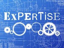 Expertise Blueprint Tech Drawing Stock Photos