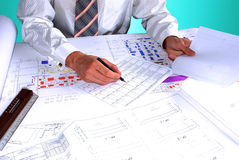 Expertise technology project. Execute high-end evaluator in space construction stock images